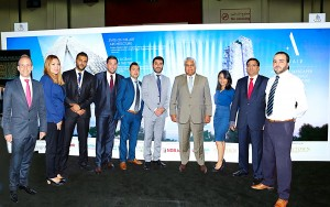 The Altair team in Dubai – Altair Directors Jaideep Halwasiya (second from right) and Pradeep Moraes (fourth from right) and Sales Manager Anjela Ranasinghe (third from right) with representatives of Downtown International Real Estate.