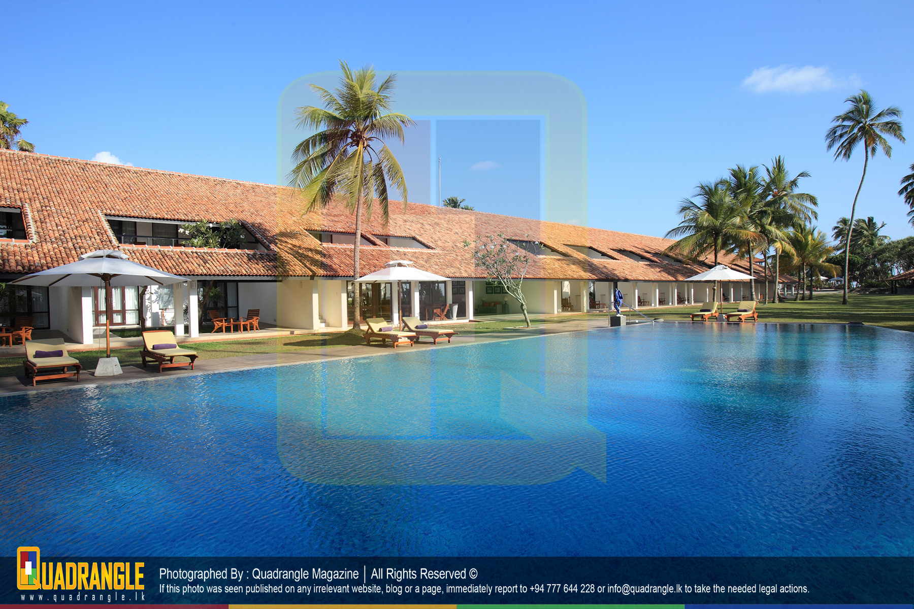 AVANI Bentota Resort & Spa - Daytime view with the pool