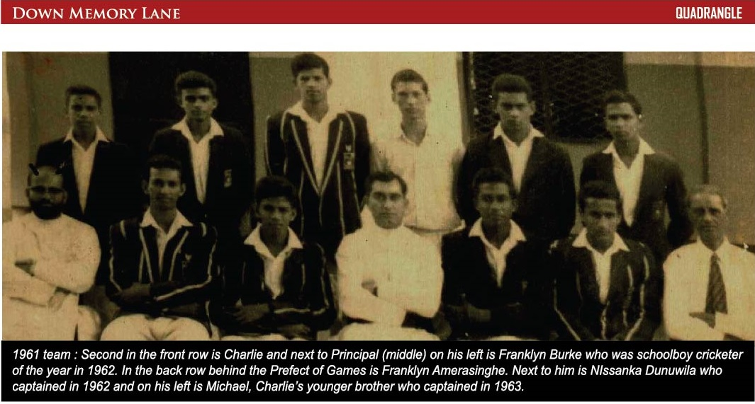St. Anthony's College Katugastota 1st XI Cricket team -1961