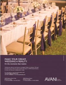 Avani Wedding advertisement