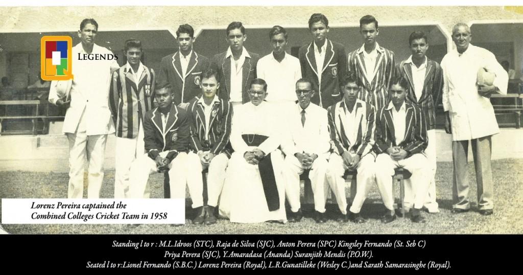 Combined College Cricket team 1958 - Ceylon (now Sri Lanka)