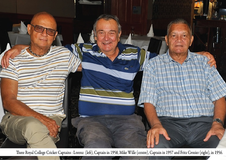 Former 1st XI Cricket Captains of Royal College - 1956, 1957 and 1958