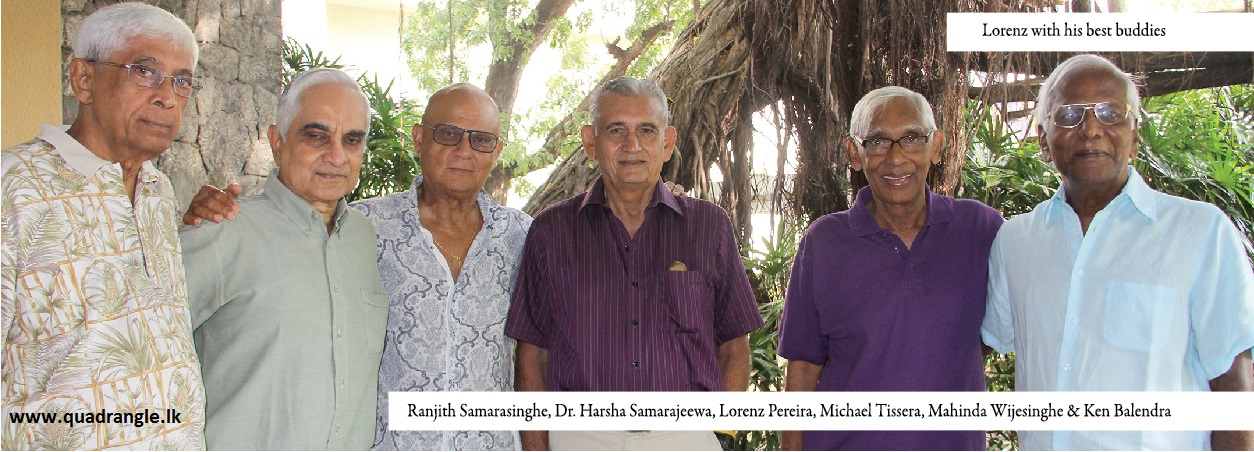 Lorenz Pereira with Ranjith Samarasinghe, Dr.Harsha Samarajeewa, Michael Tissera, Mahinda Wijesinghe and Ken Balendra