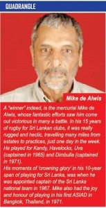 Mike de Alwis - Trinity College Kandy