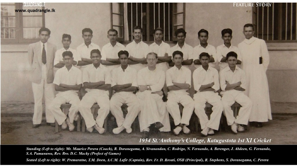Champion 1954 St. Anthony's College 1st XI Cricket team
