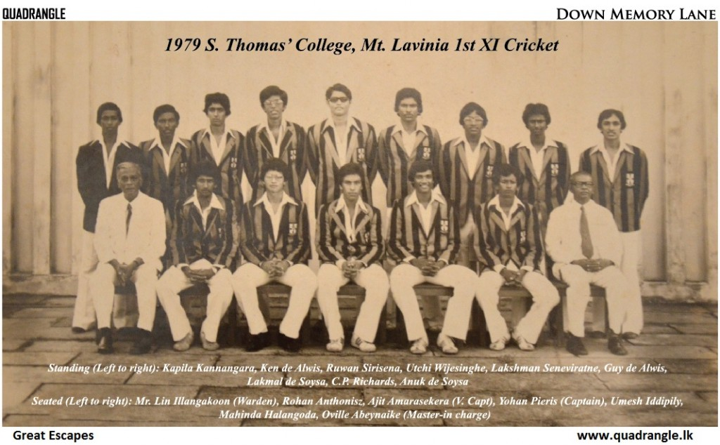 S. Thomas' College 1st XI Cricket 1978