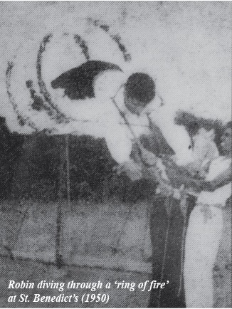 robin-fernando-performing-his-first-stunt-as-a-schoolboy-back-in-1950-at-st-benedicts-college