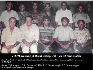 Royal College 1957 1st XI Cricketers gathered again