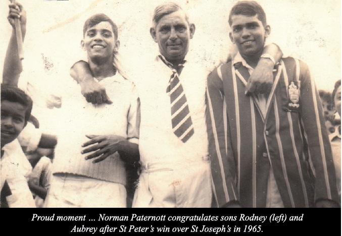 Norman Paternott with Rodney and Aubrey