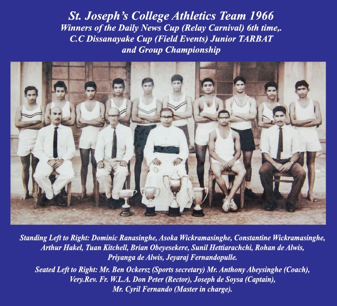 St.Joseph's College athletics 1966