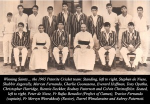 St.Peter's 1965 1st XI