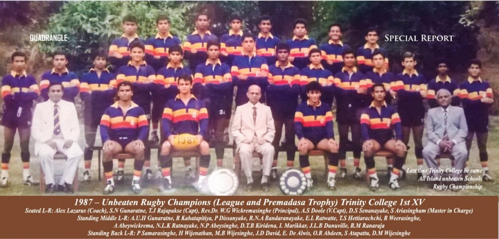 Trinity College Rugby 1st XV 1987