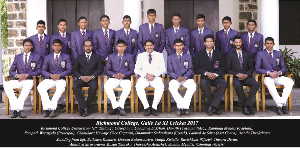 Richmond College Galle 1st XI Cricket 2017