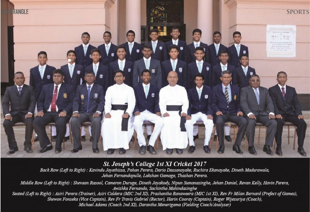 St.Joseph's College Colombo 10 1st XI Cricket 2017